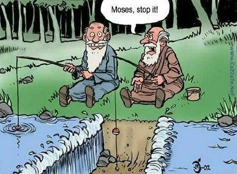 When Moses fishing