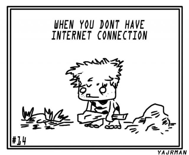 When you don't have internet connection - Funny pictures, memes - funvizeo.com - art,comics,funny,internet