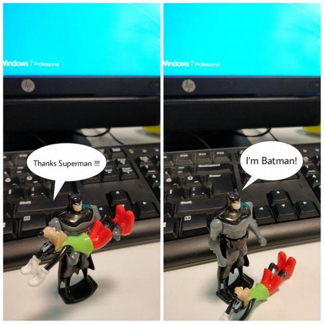 I'm Batman - Funny pictures, memes - funvizeo.com - comics,funny,superman,batman