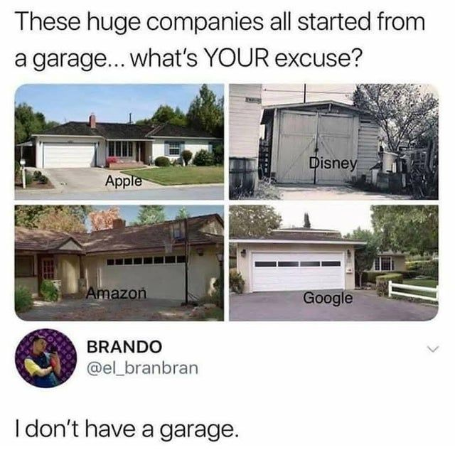 World Famous Companies that Started in Garages - Funny pictures, memes - funvizeo.com - garage,memes,company,funny