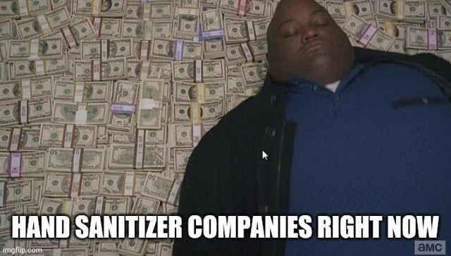 Hand sanitizer companies right now