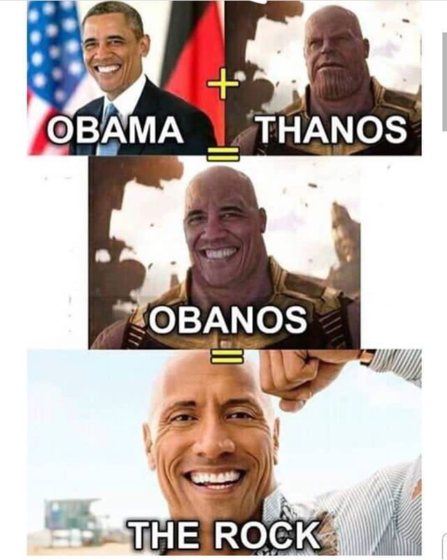 Obanos The Rock - Funny pictures, memes - funvizeo.com - funny,memes,the rock,obama,thanos