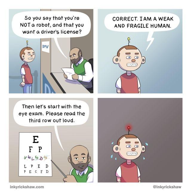 Captcha Funny Comic - Funny pictures, memes - funvizeo.com - funny,robot,captcha,comics