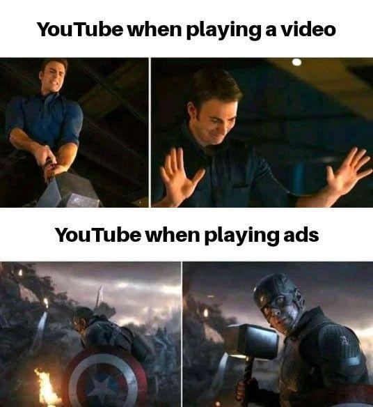 Laugh in ad blocker