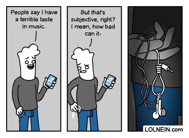 Taste in Music - Funny pictures, memes - funvizeo.com - comics,funny,music,headphone