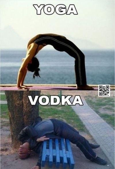 Yoga vs Vodka  - Funny Videos - funvizeo.com - yoga, vodka, humor, drunk