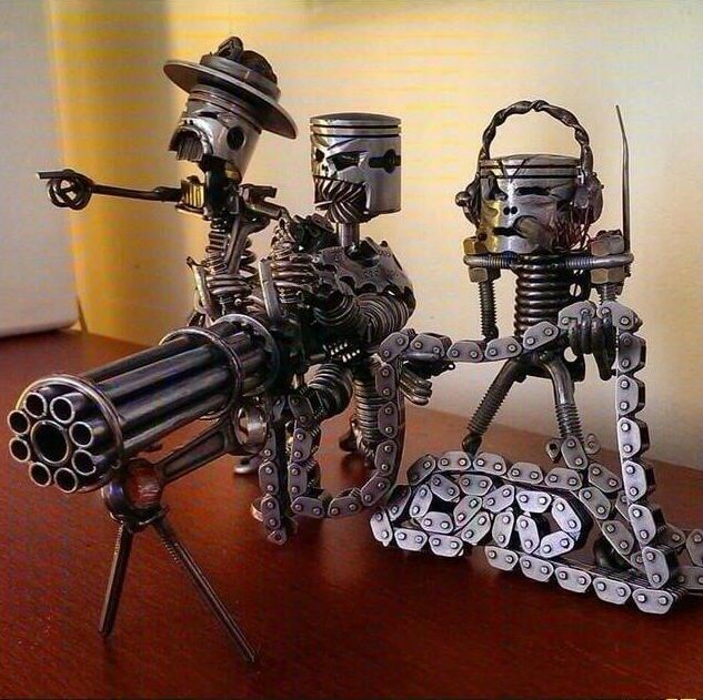 Piston Metal Art