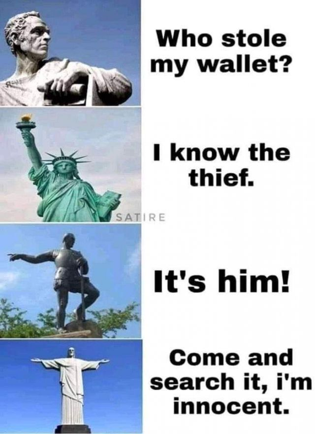 Funny History of the Most Famous Statues in the World - Funny pictures, memes - funvizeo.com - memes,funny,thief,statues,world