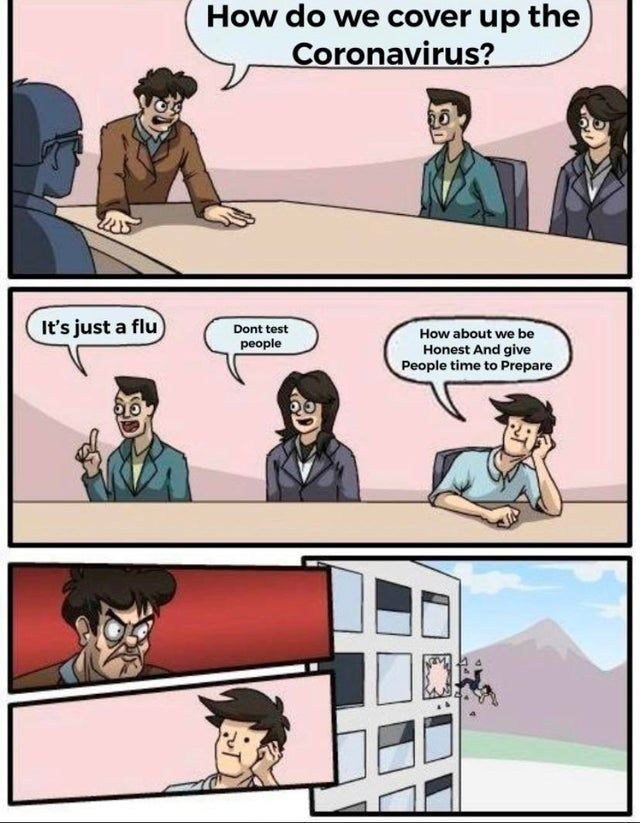 Coronavirus Cover Up - Funny pictures, memes - funvizeo.com - memes,funny,coronavirus,boardroom meeting suggestion meme