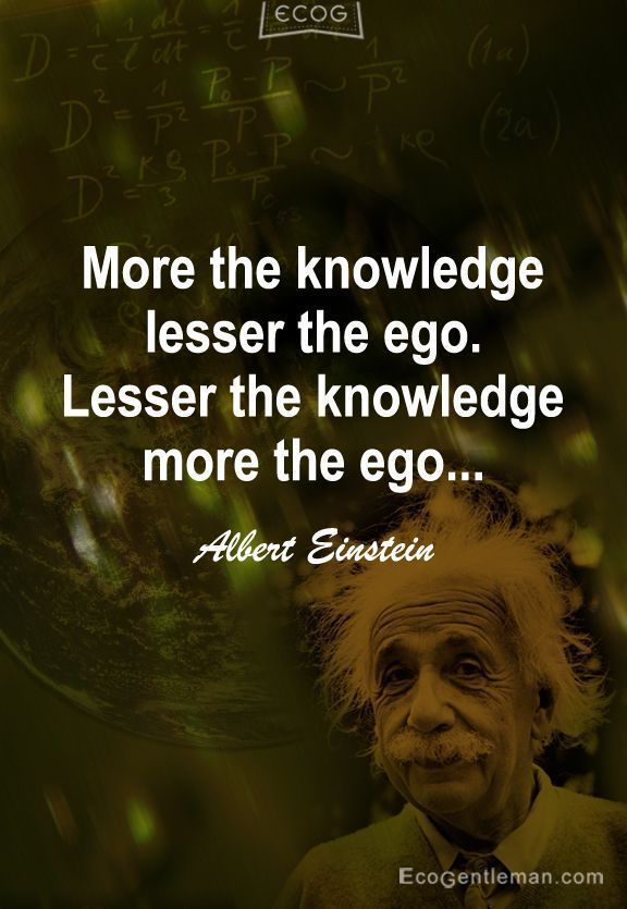More The Knowledge Lesser The Ego, Lesser The Knowledge, More The Ego