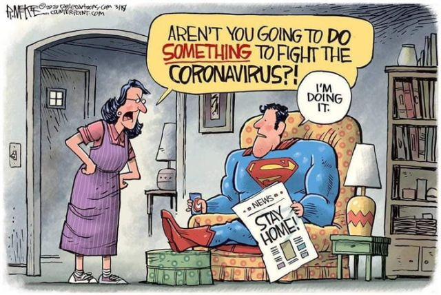 Stay At Home To Fight Coronavirus - Funny pictures, memes - funvizeo.com - comics,funny,superman,coronavirus,memes