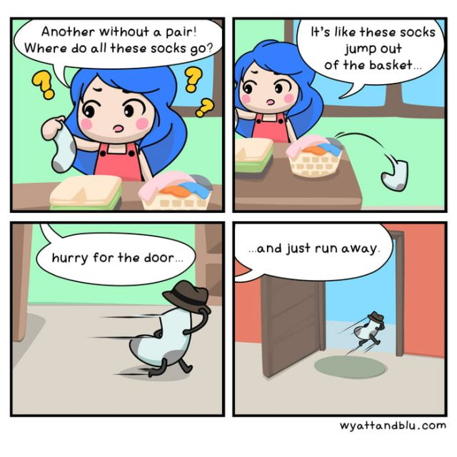 The mystery of the missing socks