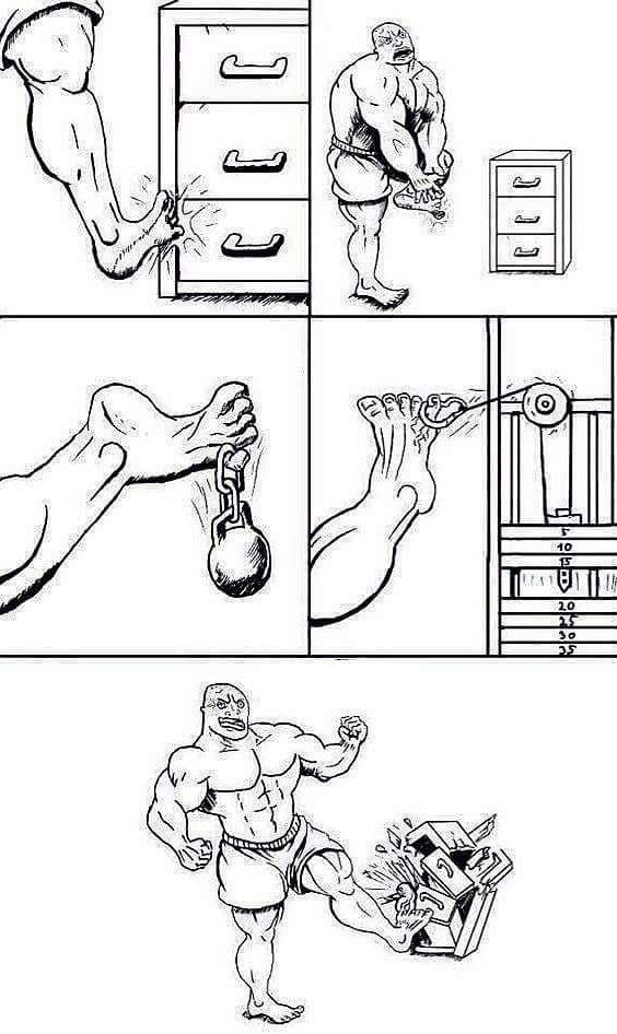 The story of the little toe - Funny pictures, memes - funvizeo.com - funny, funny picture, cupboard, little toe
