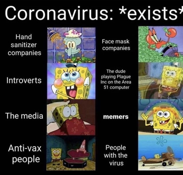 Funny COVID-19 meme - Funny pictures, memes - funvizeo.com - coronavirus,spongebob meme,memes,funny