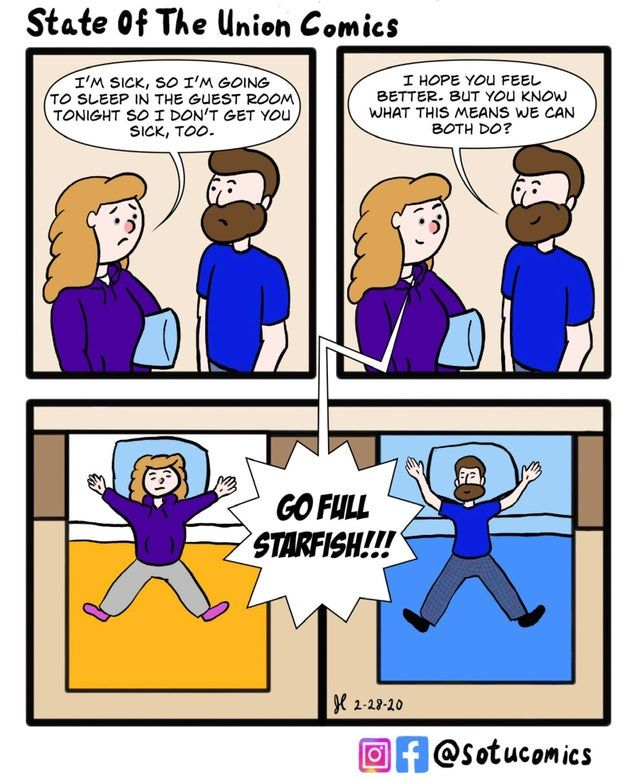 Why do older couples sleep in separate beds - Funny pictures, memes - funvizeo.com - comic,funny,couple,bed