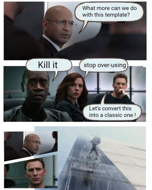 Old Captain America Meme Template - Funny pictures, memes - funvizeo.com - captain america,boardroom meeting,funny,memes