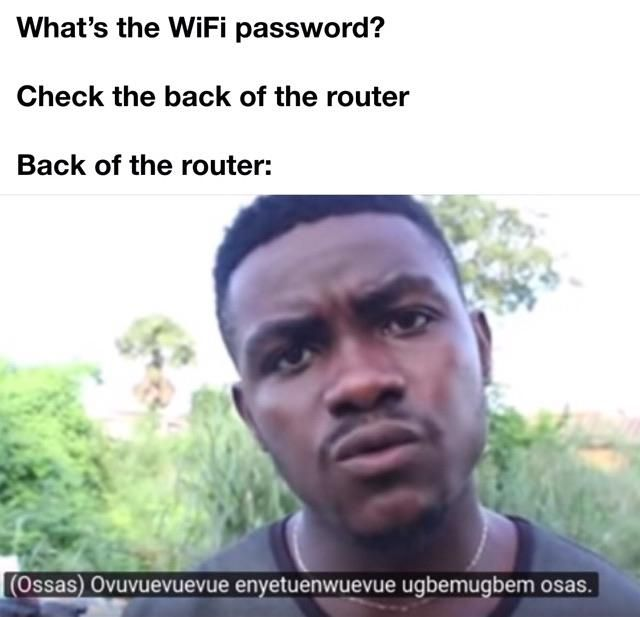 The wifi password is on the back of the router meme - Funny pictures, memes - funvizeo.com - memes,funny,wifi,password