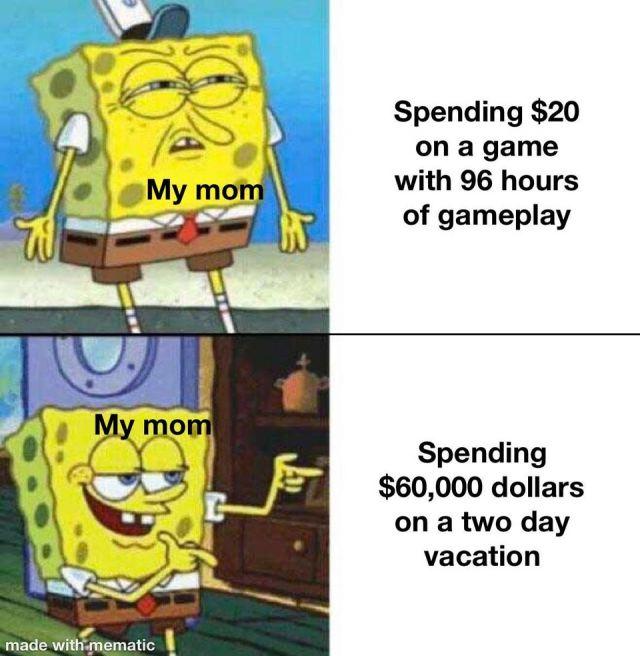 Too expensive meme - Funny pictures, memes - funvizeo.com - spongebob meme,memes,funny,vacation,game