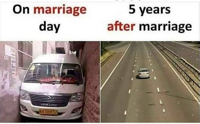 On marriage 5 years after marriage meme