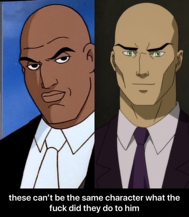 These can not be the same character what the fuck did they do to him these can't be the same character what the fuck did they do to him memes