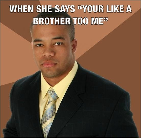 WHEN SHE SAYS YOUR LIKE A BROTHER ME memes