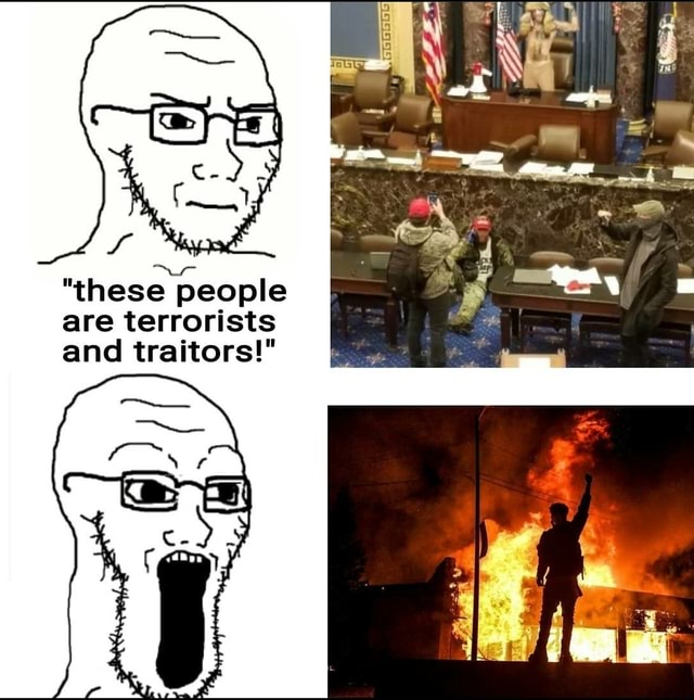 These people are terrorists and traitors memes