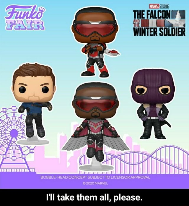 THE FALCON WINTER SOLDIER NCEP IBJECT SOR APPROVAL I'll take them all, please.  I'll take them all, please memes