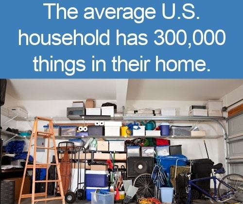 The average U.S. household has 300,000 things in their home memes