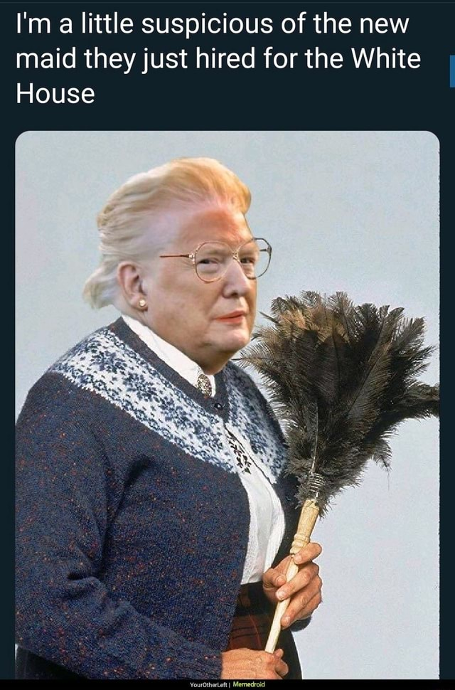 I'm a little suspicious of the new maid they just hired for the White House memes