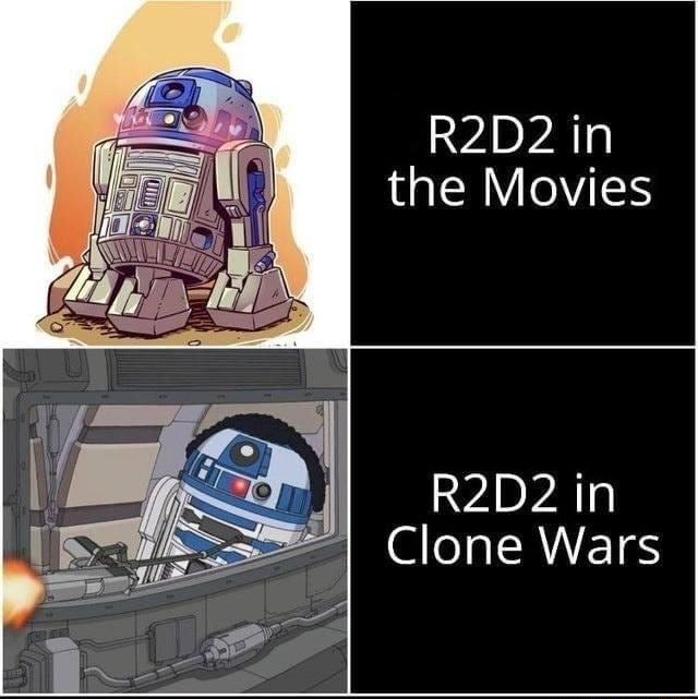 In the Movies in Clone Wars memes