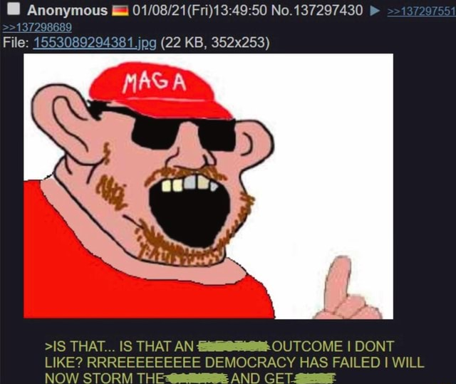 Anonymous j No. 137297430 137207554 137208689 File 1553089294381 jog 22 KB, 352x253 IS THAT IS THAT AN OUTCOME I DONT LIKE RRREEEEEEEEE DEMOCRACY HAS FAILED I WILL NOW STORM THE AND GE memes