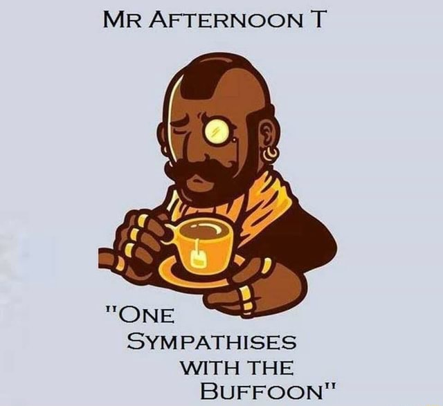 MR AFTERNOON T SYMPATHISES WITH THE BUFFOON meme