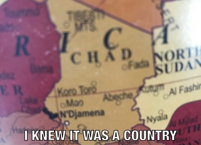 Ny KNEW IT WAS A COUNTRY memes