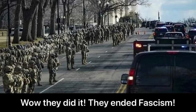 Wow they did it They ended Fascism  Wow they did it They ended Fascism memes