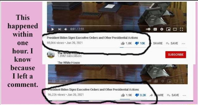 This happened within one hour. I know because left a comment. President Biden Sir Orders and Other Pr 20, The White House Biden Signs Executive memes