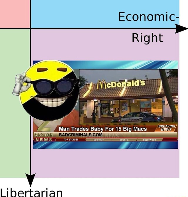 Economic Right BREAKING, Man Trades Baby For 15 Big Macs ACTION NEWS STORIES libertarian memes