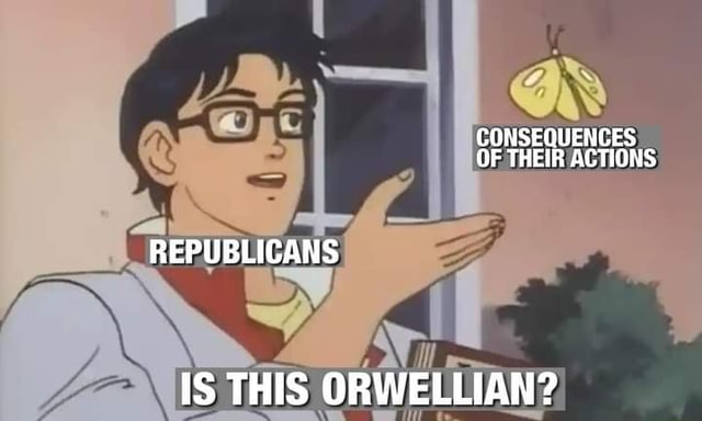CONSEQUENCES OF THEIR ACTIONS REPUBLICANS IS THIS ORWELLIAN memes