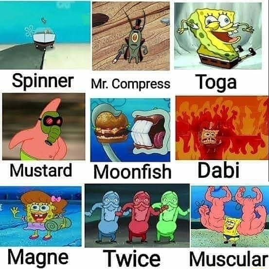 Spinner Mr. Compress TOga om Magne Twice Muscular meme