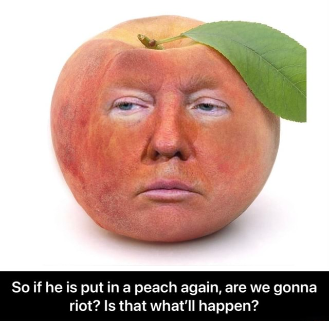So if he is put in peach again, are we gonna riot Is that what'll happen So if he is put in a peach again, are we gonna riot Is that what'll happen meme