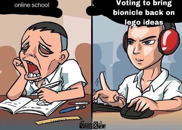 Voting to bring bionicle back on lego ideas online school memes