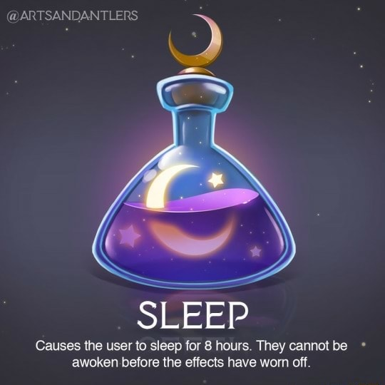 ANTLERS SLEEP Causes the user to sleep for 8 hours. They cannot be awoken before the effects have worn off memes