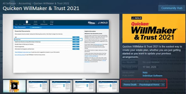 Quicken WillMake Trust 2021 faker  and  Trust 2021  and  Trust 2021 Community Hub Quicken WillMaker  and  Trust 2021 Quicken WillMaker  and  Trust 2021 is the easiest way to create your estate plan, whether you are just getting started or you want to update your previous arrangements, Nolo Individual Sofware Perma Death Psychological Horor memes