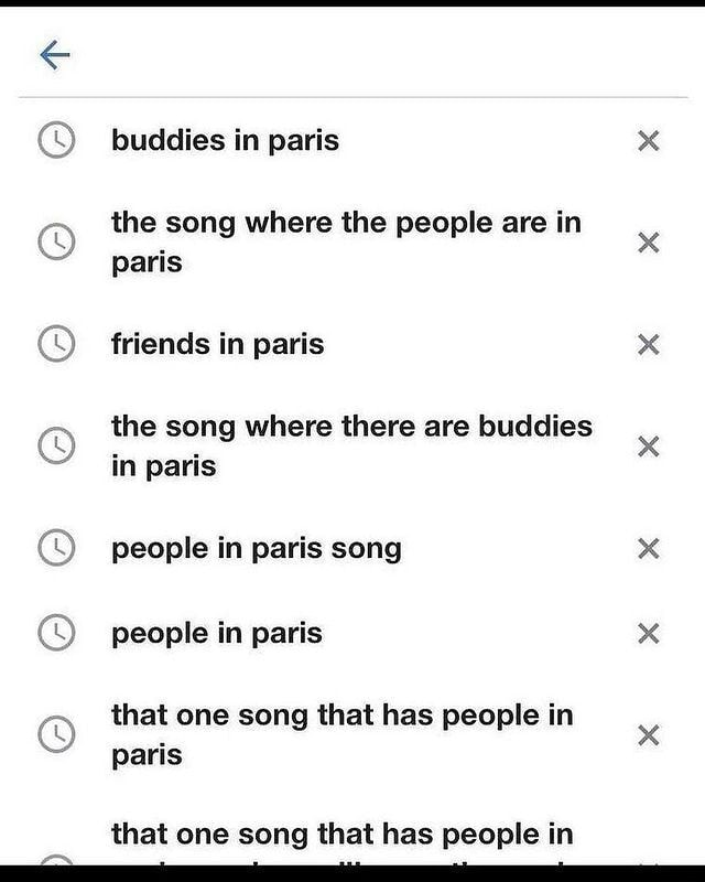 Buddies in paris x the song where the people are in paris friends in paris x the song where there are buddies x in paris people in paris song x people in paris x that one song that has people in x paris that one song that has people in memes