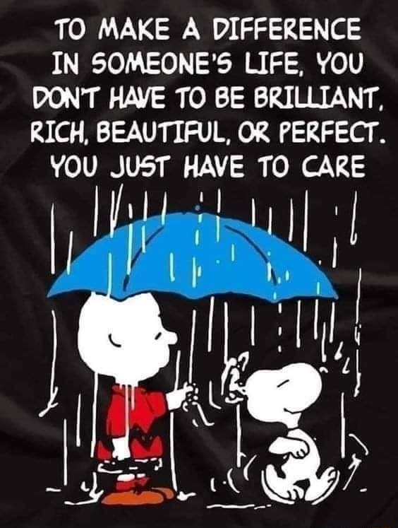 TO MAKE A DIFFERENCE IN SOMEONE'S LIFE, YOU DON'T HAVE TO BE BRILLIANT, RICH, BEAUTIFUL, OR PERFECT. YOU JUST HAVE TO I Us memes