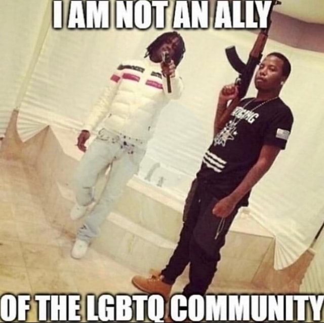 NOT AN ALLY OF THE LGBTQ COMMUNITY meme