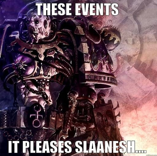 THESE EVENTS IT PLEASES SLAANESSEE memes