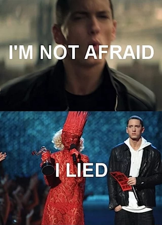 I'M NOT AFRAID I LIED meme