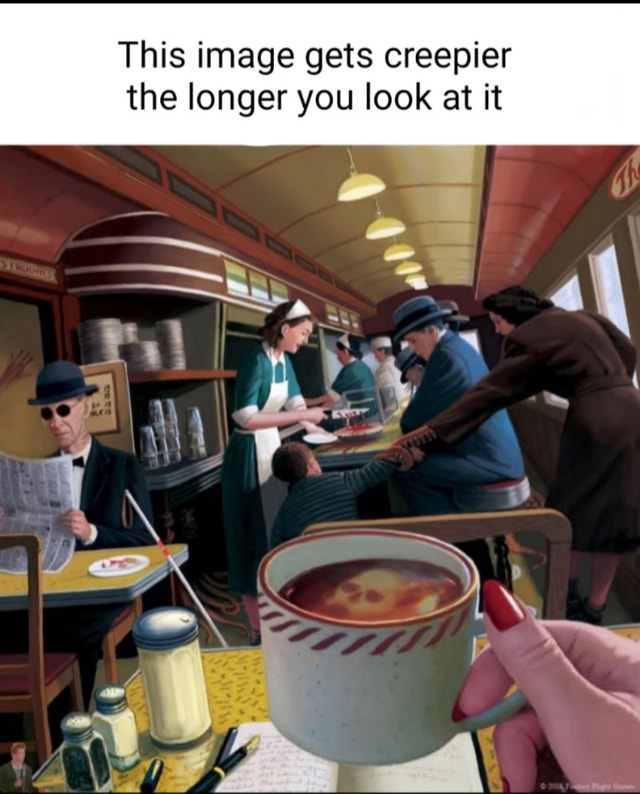 This image gets creepier the longer you look at it meme