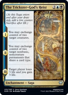 Sacrifice afer You may exchange L control of wo II You may exchange permanents thi Share a card type Target player loses Ti snd you guin meme