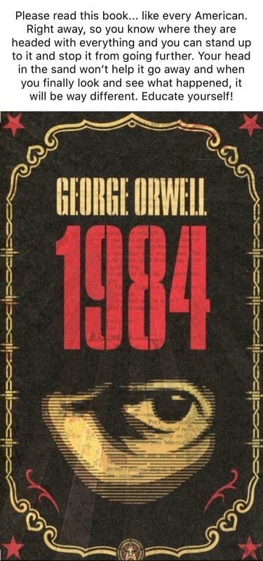 Please read this book like every American. Right away, so you know where they are headed with everything and you can stand up to it and stop it from going further. Your head in the sand won't help it go away and when you finally look and see what happened, it will be way different. Educate yourself memes